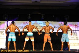 Back pose Comparison of Teen, Collegiate, Masters' National Championships
